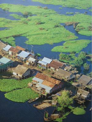 village flottant de Komp Khleang